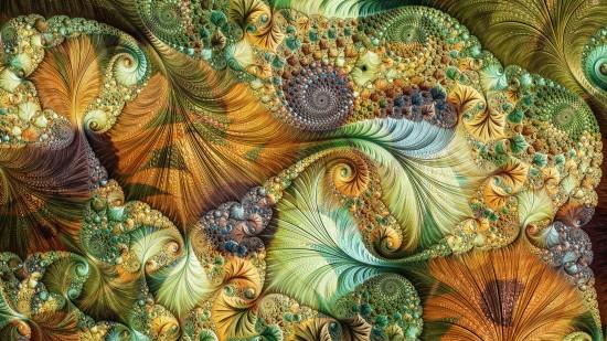Abstrakcja fraktale generowane komputerowo. Fraktale jest niekończącymi się wzorami, które są do siebie podobne w różnych skalach.
