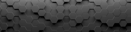 Abstrakcja sześciokątna geometryczna pętla powierzchniowa, czysty minimalny sześciokątny wzór