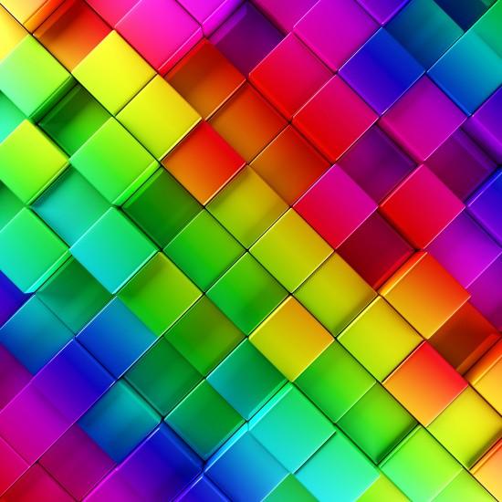 Abstrakcyjne tło kolorowe bloki, sześciany 3D