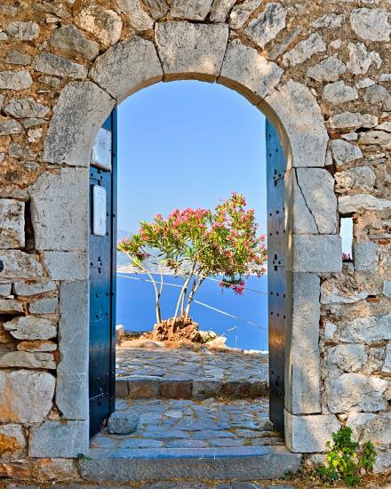otwarta brama w fortecy Palamidi, Nafplio, Grecja Widok 3D