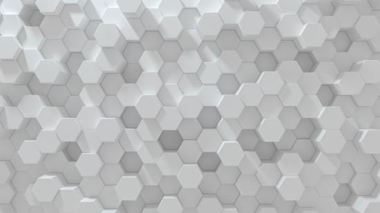 Sześciokątne tło geometryczne. Abstrakcja struktura wielu sześciokątów o różnej wysokości. Struktura plastra miodu. Wzór elementów komórki. 3D