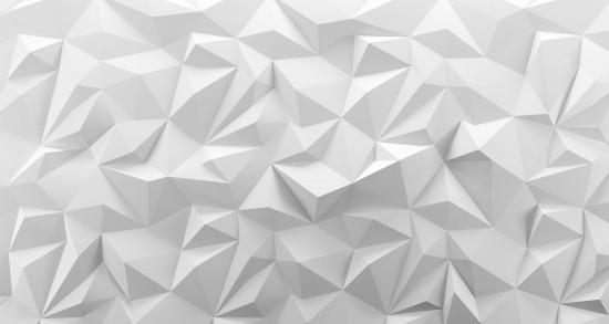 Tekstura tło białe low poly. Renderowanie 3d.