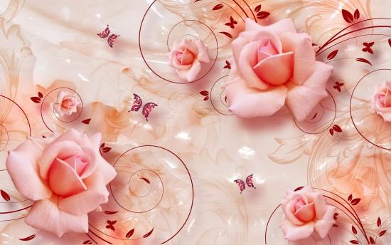 tło z kwiatowym wzorem