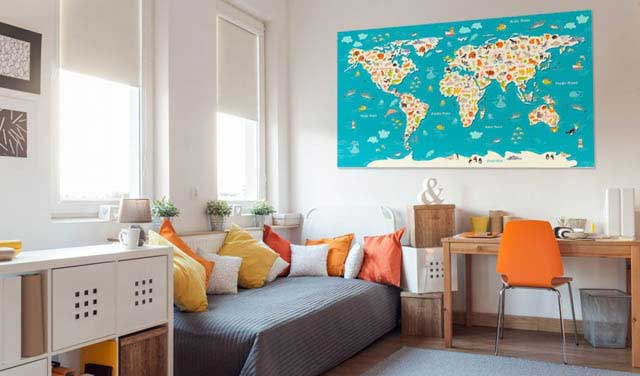 Zwierzęta na mapie świata