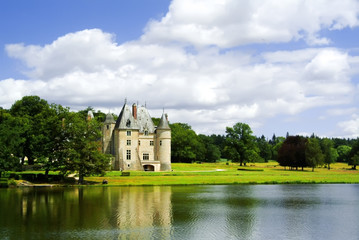 A chateau in the loire valley, France, Europe.