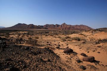 Landschaft im Damaraland in Namibia