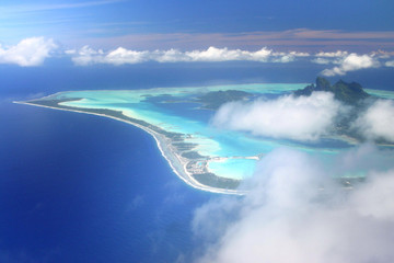 Aerial view on Bora Bora
