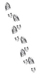 Schuhabdrücke