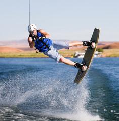 Man wakeboarding at Lake Powell 12