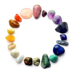 Semiprecious gemstones - round color spectrum
