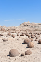Stone desert in Ischigualasto, Argentina.