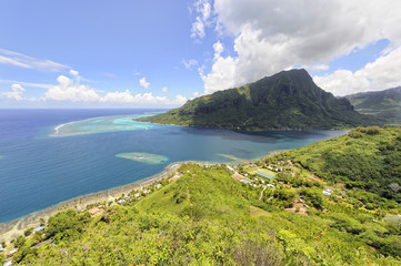 A view of Opunohu Bay on the island of Moorea