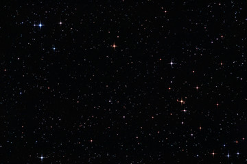 colorful stars in the night sky