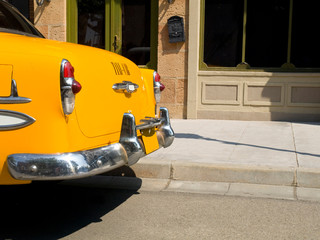 Detail of an old New York Taxi Cab