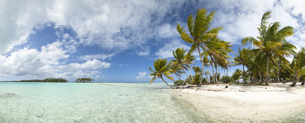 Paradise beach panoramic view