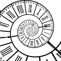 Horloge ancienne, spirale