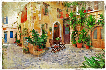 Chania,Crete- old charming streets