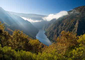 Sil river canyon, in Orense, Spain