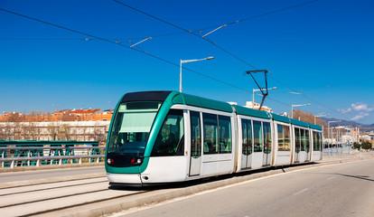 tramway going over bridge