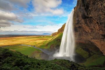 Waterfall in Iceland - Seljalandsfoss