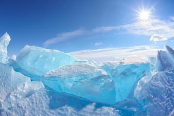 Winter Baikal lake