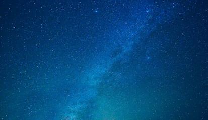 Milky way stars at night