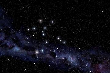 Centaurus constellation in the starry night