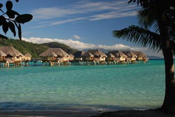Overwater bungalows. Tahaa, French Polynesia