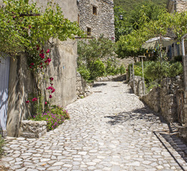 French village, street in Provence. France