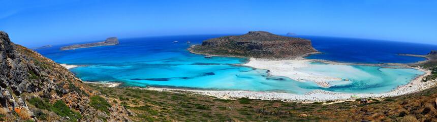 Plage de Balos à extrême ouest de la Crète