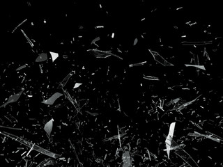 Pieces of Broken Shattered glass