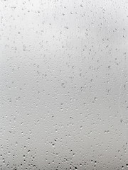 background from rain drops on window pane