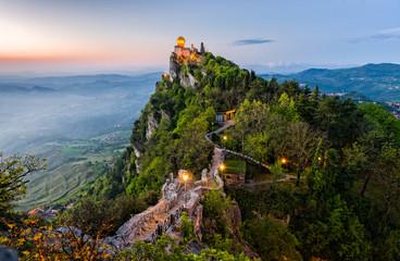 San Marino Castle at Sunrise