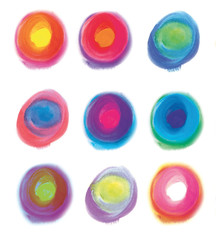 set colored circles