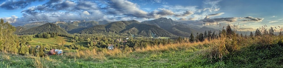 Tatra Mountains - Panorama with view on Giewont