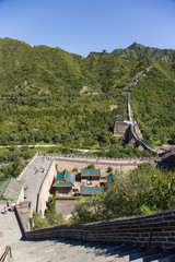 Great Wall crosses the valley and out to the mountains