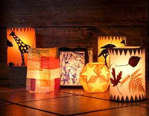 Different handmade lanterns, Sankt Martin
