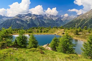 Doss dei Gembri lake in Val di Pejo