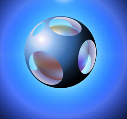 Abstract background with sphere.