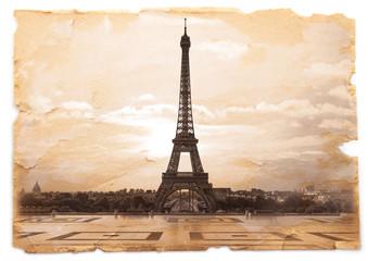cartolina retro della Tour dal Trocadero