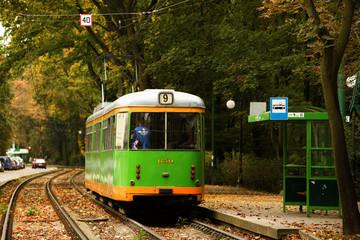 tram in Poznan, Poland