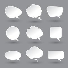 White speech bubbles set