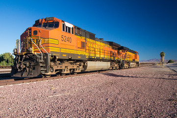BNSF Freight Train Locomotives No. 5240 in the desert