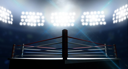 Boxing Ring In Arena