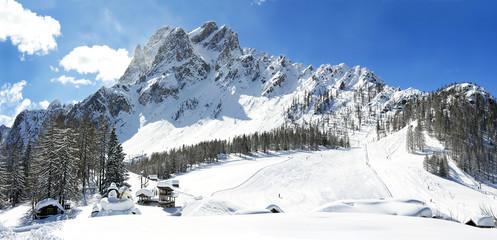 Dolomite mountains, Massif Croda Rossa di Sesto in South Tyrol