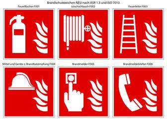 Brandschutzzeichen Set nach ASR 1.3 und ISO 7010