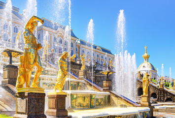 Grand Cascade in Peterhof Palace, St Petersburg
