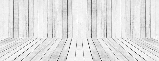 White floor and wall Wood Pattern
