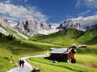 Giorno d'estate a Fuciade, Moena, Trentino Alto Adige