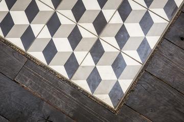 Kacheln mit Muster / Dreidimensionale Quadrate